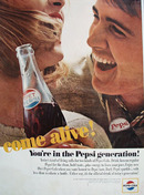 Pepsi Cola You Are In Pepsi Generation Ad 1964