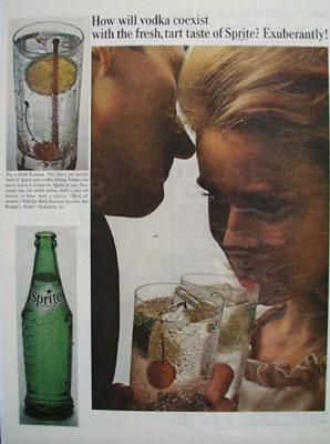 Sprite How Will Vodka Coexist Ad 1965
