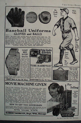 Robert More Co And Baseball Uniforms Ad 1927
