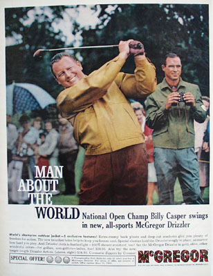 McGregor And Billy Casper Ad 1960