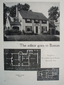 Louis E Wyman Home Newtonville, Mass. 1933