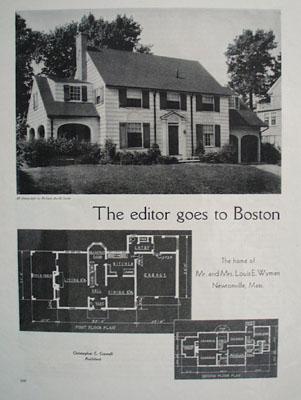 Louis E Wyman Home Newtonville, Mass. 1933