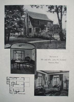 John M Sweeney Home Newton Mass Picture 1933