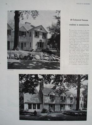 L A Norton Home W. Orange NJ Picture  1931