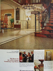 Armstrong Cork The Front Hall Ad 1966
