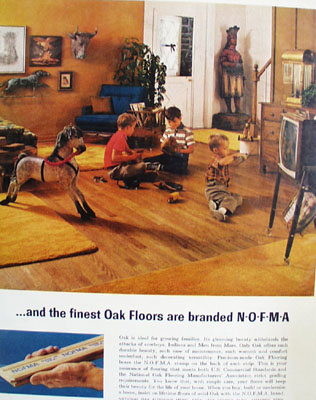 NOFMA Oak Floors Best To Grow On Ad 1965