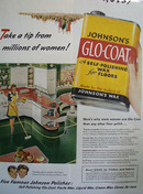Johnson Glo Coat Take A Tip Ad 1946