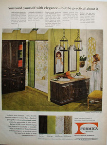 Formica Corp Surround Elegance Bathroom Ad 1967