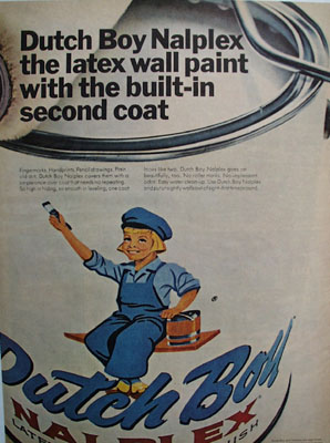 Dutch Boy Paint Built In Second Coat Ad 1967