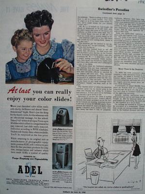 Adel Camera Enjoy Color Slides Ad 1945