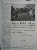Eastman Kodak Take A Kodak With You Ad 1926