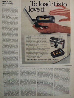 Eastman Kodak To Load It Ad 1967