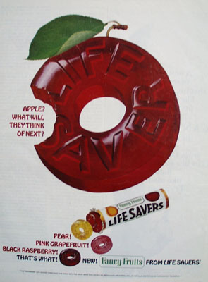 Life Saver Apple What Will Think Of Next Ad 1965