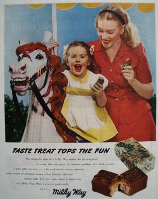Milky Way Taste Treat Tops The Fun Ad 1945