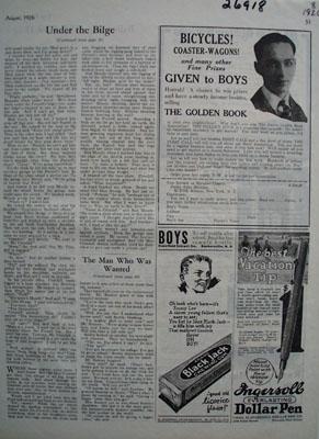 Black Jack Gum And Emery Lee Ad 1926