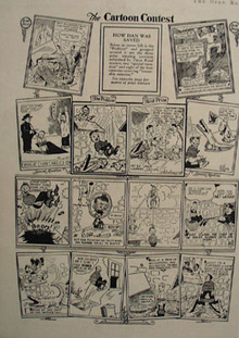 Cartoon Contest How Dan Was Saved Ad 1933