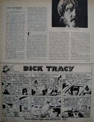 Dick Tracy And Auto Lite Battery Ad 1966