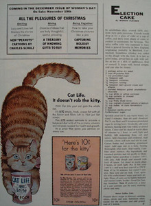 Cat Life Does Not Rob Kitty Ad 1968