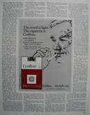 Carlton Cigarettes Word Is Light Ad 1968