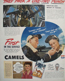 Camels Pack A One Two Punch Ad 1944