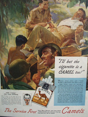Camels Bet Cigarette Is A Camel Too Ad 1945