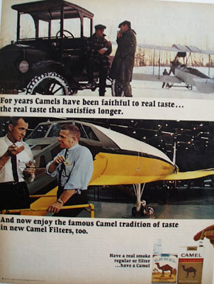 Camel Faithful To Real Taste Ad 1967