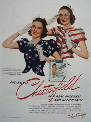 Chesterfield And The Alexander Twins Ad 1940