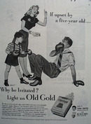 Old Gold Upset By Five Year Old Ad 1946