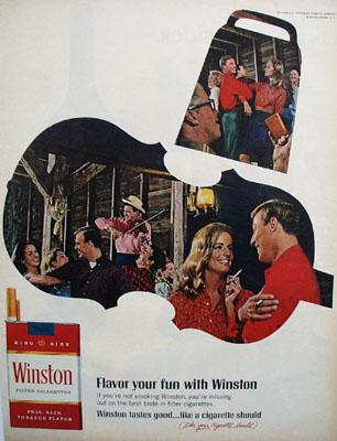 Winston Flavor Your Fun Ad 1967