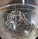 3 Mold Glass with heart shaped flower and leaves stemware