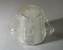 Jeannette Glass Dewdrop Glass Sugar bowl, Panel and bead design
