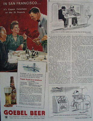 Goebel Beer San Francisco Ad 1945