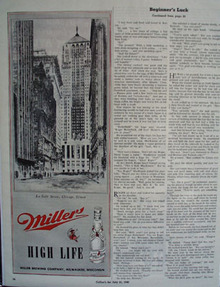 Miller Beer And La Salle St Chgo 1945