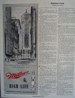 Miller Beer And La Salle St Chgo 1945