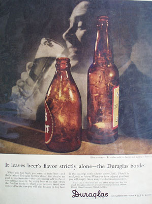 Duraglas Leaves Flavor Alone Ad 1945