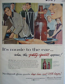 Owens Illinois Glass Music To Ear Ad 1957