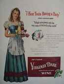 Virginia Dare Wine You Are Having A Party Ad 1947