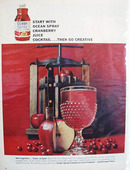 Ocean Spray Cranberry Juice Go Creative Ad 1964