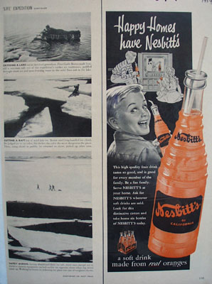 Nesbitts Orange Happy Homes Ad 1954