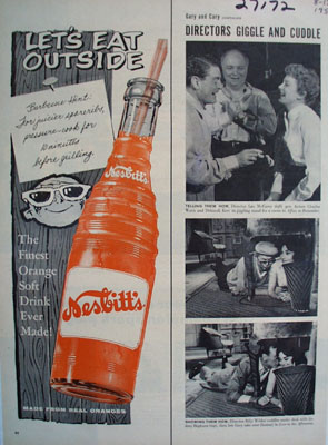 Nesbitts Orange Drink Eat Outside Ad 1957