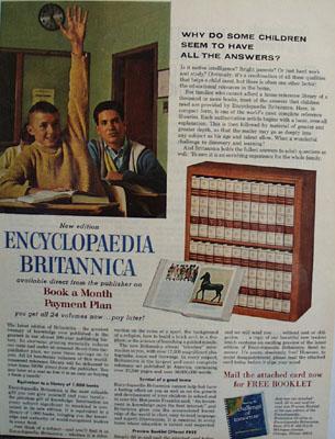 Encyclopedia Britannica Classroom Ad 1964