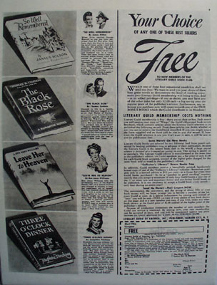 Literary Guild Your Choice Free Ad 1946