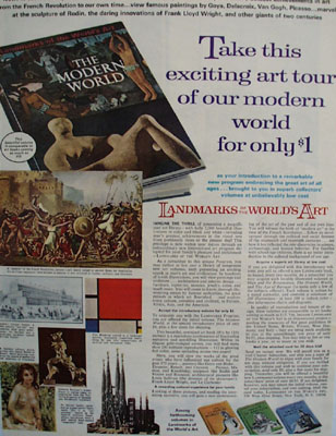 Landmarks Of Worlds Art Ad 1966