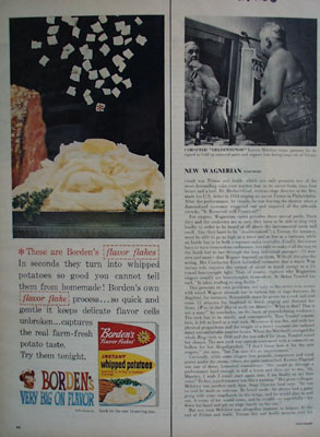 Bordens Whipped Potatoes Ad 1960