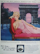 Ponds and Jacqueline Huet Actress Ad 1960