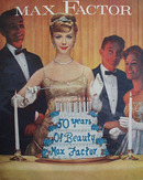Max Factor 50 Years of Beauty Ad 1959