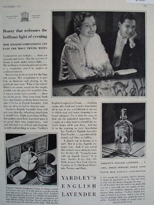 Yardleys English Lavender Couple At Opera Ad 1931