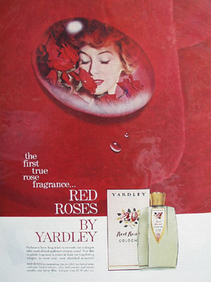 Yardley Red Roses True Rose Fragrance Ad 1959