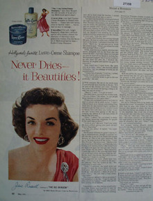 Lustre Crme And Jane Russell Ad 1954