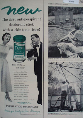 Fresh Stick Deodorant Feels Frosty Ad 1954